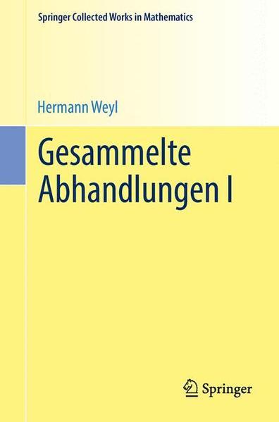 Gesammelte Abhandlungen I - Coverbild