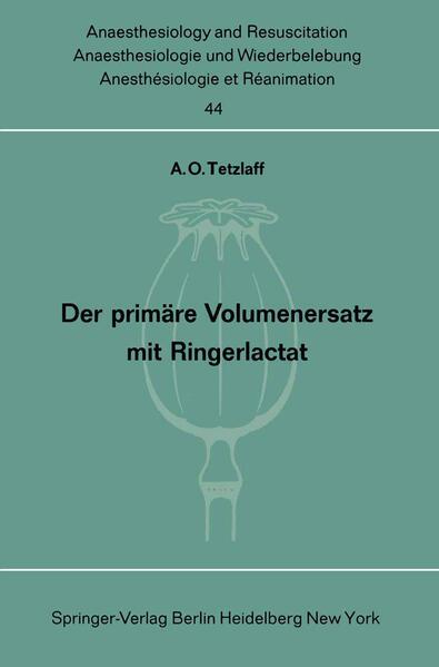 Der primäre Volumenersatz mit Ringerlactat - Coverbild