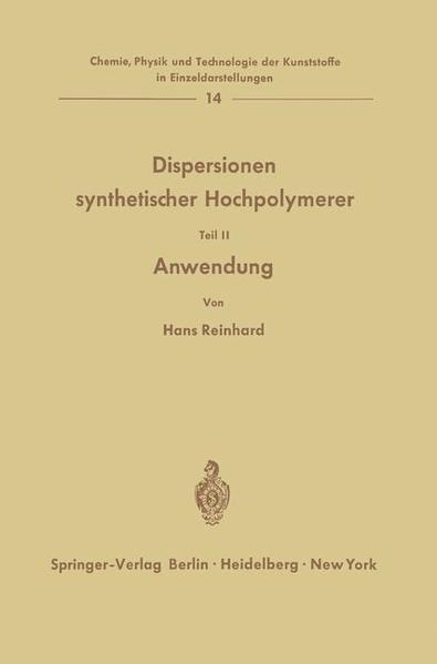 Dispersionen synthetischer Hochpolymerer - Coverbild