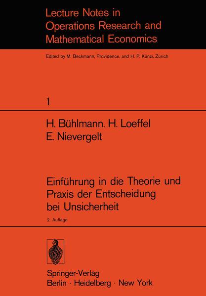 Einführung in die Theorie und Praxis der Entscheidung bei Unsicherheit - Coverbild