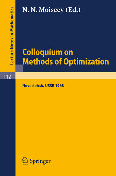 Colloquium on Methods of Optimization - Coverbild