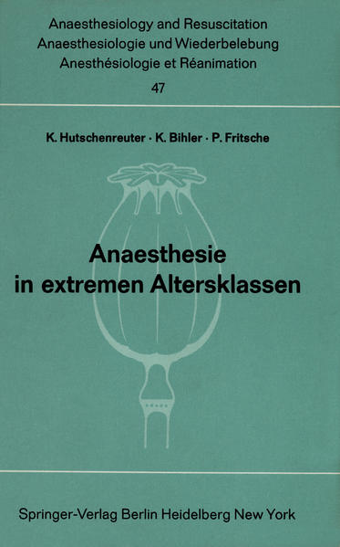 Anaesthesie in extremen Altersklassen - Coverbild