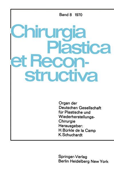 Sondersitzung Plastische Chirurgie der 87. Tagung der Deutschen Gesellschaft für Chirurgie am 1. April 1970 in München - Coverbild