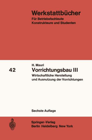 Vorrichtungsbau III - Coverbild