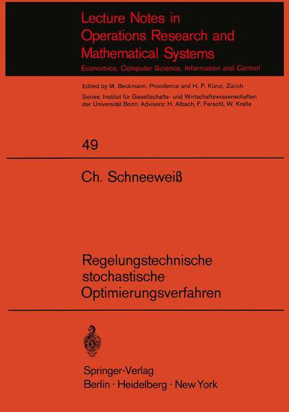 Regelungstechnische stochastische Optimierungsverfahren in Unternehmensforschung und Wirtschaftstheorie - Coverbild