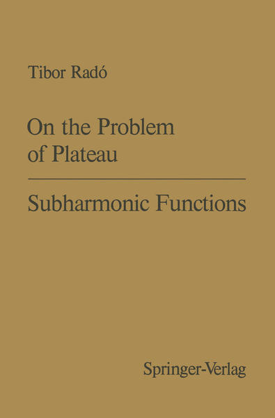 On the Problem of Plateau / Subharmonic Functions - Coverbild