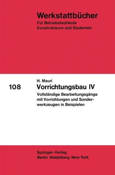 Vorrichtungsbau IV - Coverbild