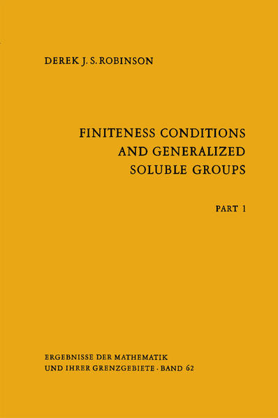 Finiteness Conditions and Generalized Soluble Groups - Coverbild