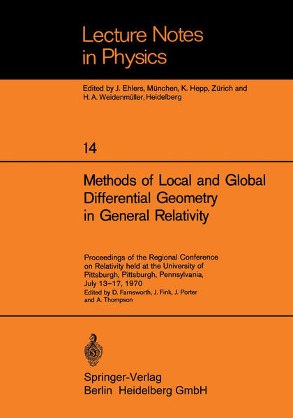 Methods of Local and Global Differential Geometry in General Relativity - Coverbild