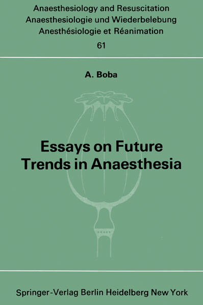 Essays on Future Trends in Anaesthesia - Coverbild