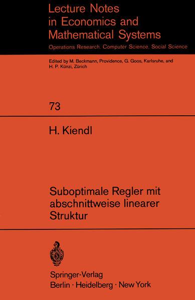 Suboptimale Regler mit abschnittweise linearer Struktur - Coverbild