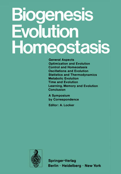 Biogenesis Evolution Homeostasis - Coverbild