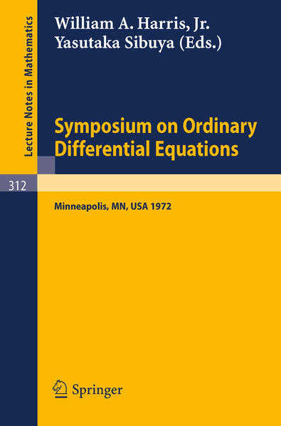Symposium on Ordinary Differential Equations - Coverbild