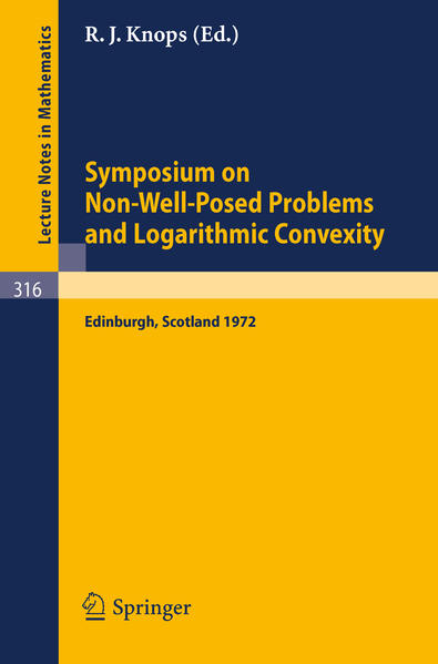 Symposium on Non-Well-Posed Problems and Logarithmic Convexity - Coverbild