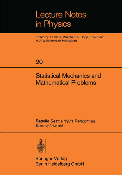Statistical Mechanics and Mathematical Problems - Coverbild