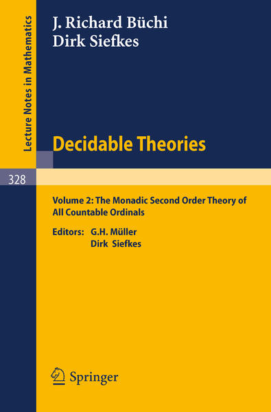 Decidable Theories - Coverbild