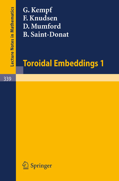 Toroidal Embeddings 1 - Coverbild