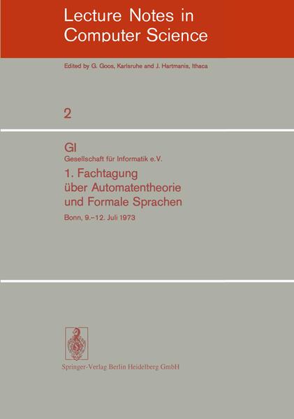 1. Fachtagung über Automatentheorie und Formale Sprachen - Coverbild