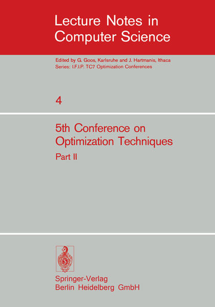 Fifth Conference on Optimization Techniques. Rome 1973 - Coverbild