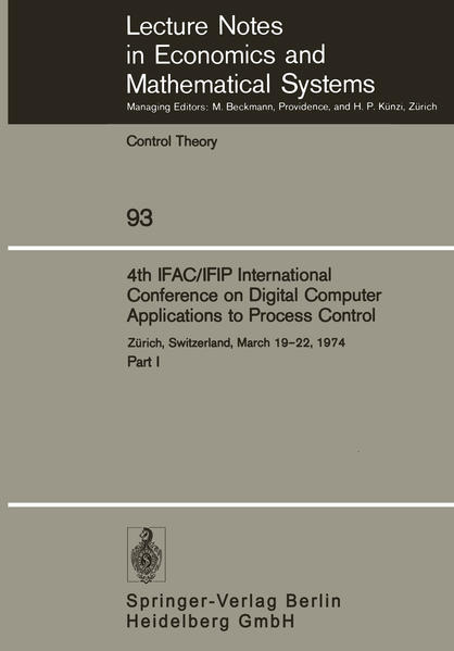 4th IFAC/IFIP International Conference on Digital Computer Applications to Process Control - Coverbild