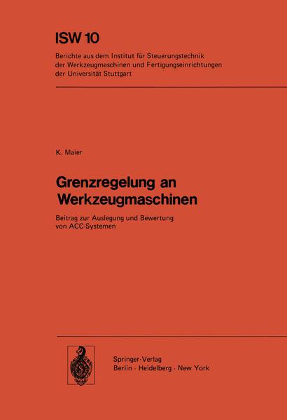 Grenzregelung an Werkzeugmaschinen - Coverbild