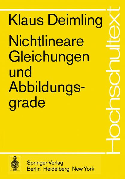 Nichtlineare Gleichungen und Abbildungsgrade - Coverbild