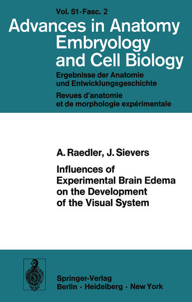Influences of Experimental Brain Edema on the Development of the Visual System - Coverbild
