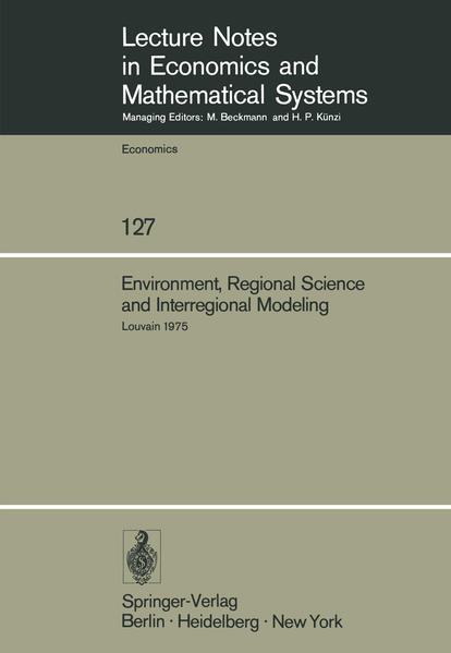 Environment, Regional Science and Interregional Modeling - Coverbild