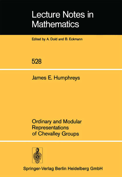Ordinary and Modular Representations of Chevalley Groups - Coverbild