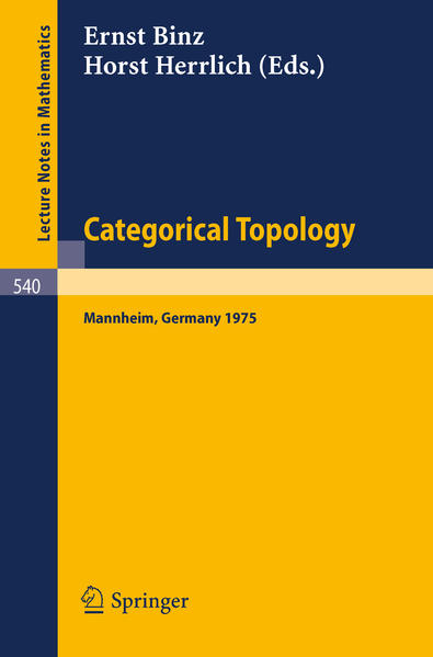Categorical Topology - Coverbild