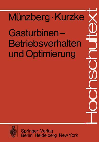 Gasturbinen — Betriebsverhalten und Optimierung - Coverbild