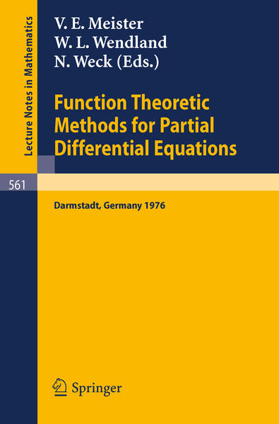 Function Theoretic Methods for Partial Differential Equations - Coverbild