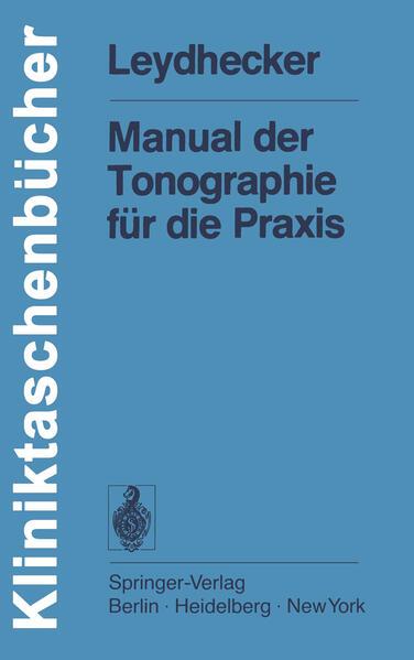 Manual der Tonographie für die Praxis - Coverbild