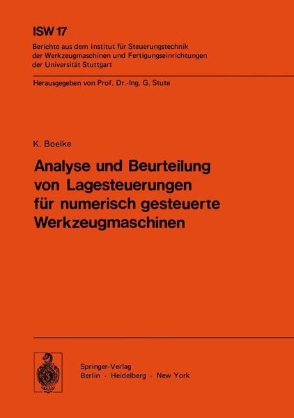 Analyse und Beurteilung von Lagesteuerungen für numerisch gesteuerte Werkzeugmaschinen - Coverbild