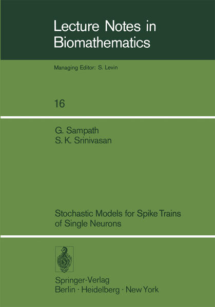 Stochastic Models for Spike Trains of Single Neurons - Coverbild
