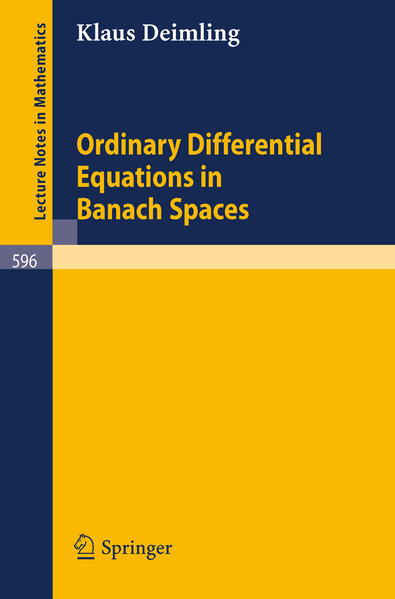 Ordinary Differential Equations in Banach Spaces - Coverbild