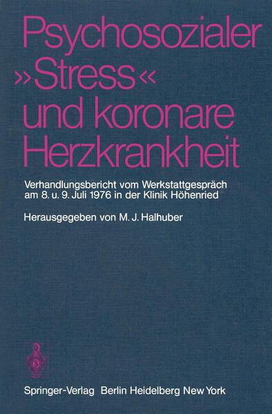 """Psychosozialer """"Stress"""" und koronare Herzkrankheit - Coverbild"""
