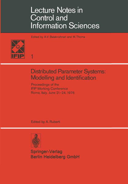 Distributed Parameter Systems: Modelling and Identification - Coverbild