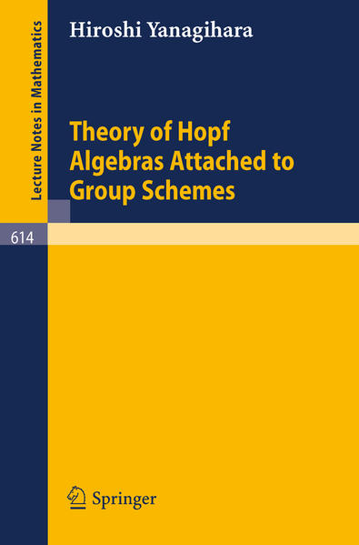 Theory of Hopf Algebras Attached to Group Schemes - Coverbild