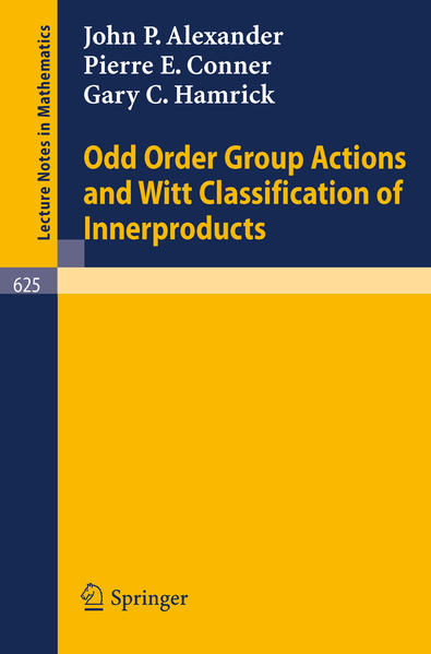 Odd Order Group Actions and Witt Classification of Innerproducts - Coverbild