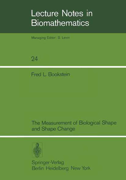 The Measurement of Biological Shape and Shape Change - Coverbild