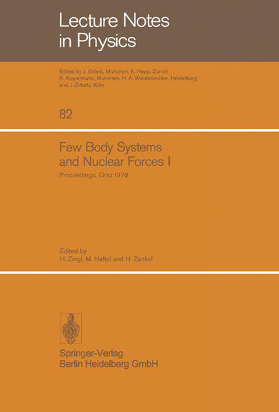 Few Body Systems and Nuclear Forces I - Coverbild