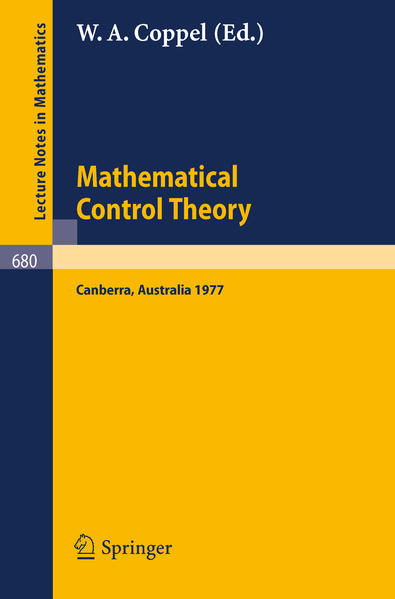 Mathematical Control Theory - Coverbild