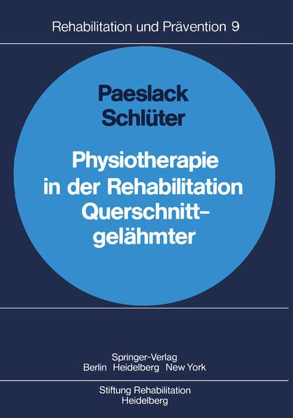 Physiotherapie in der Rehabilitation Querschnittgelähmter - Coverbild
