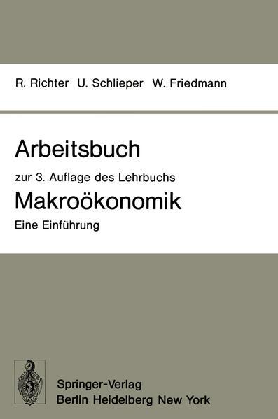 Arbeitsbuch zur 3. Auflage des Lehrbuchs Makroökonomik — Eine Einführung - Coverbild