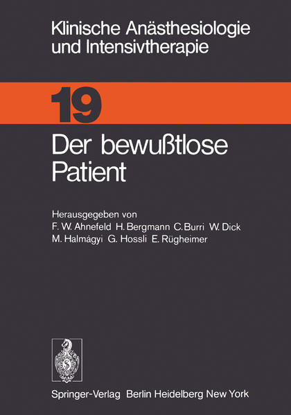 Der bewußtlose Patient - Coverbild