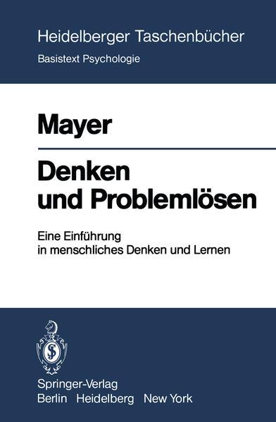 Denken und Problemlösen - Coverbild
