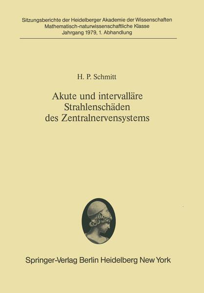 Akute und intervalläre Strahlenschäden des Zentralnervensystems - Coverbild