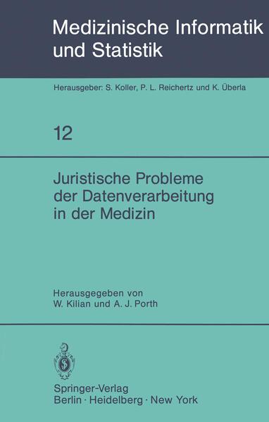 Juristische Probleme der Datenverarbeitung in der Medizin - Coverbild
