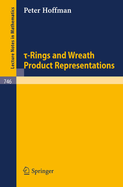 Tau-Rings and Wreath Product Representations - Coverbild